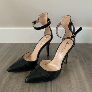 Altuzarra For Target Shoes - Altuzarra for Target Black Ankle Strap Heels, Sz 7